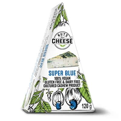 Nuts For Cheese Super Blue Box Packaging