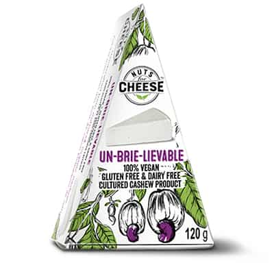 Nuts For Cheese Un-brie-lievable Flavour Box Packaging
