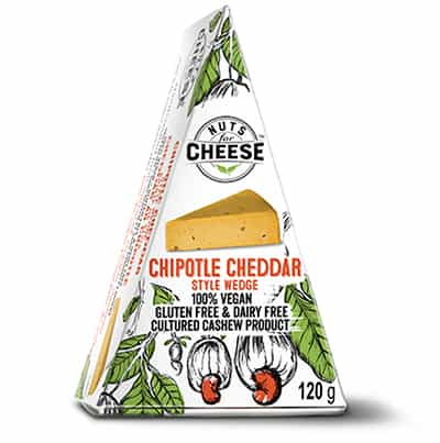 Nuts For Cheese Chipotle Cheddar Flavour Box Packaging