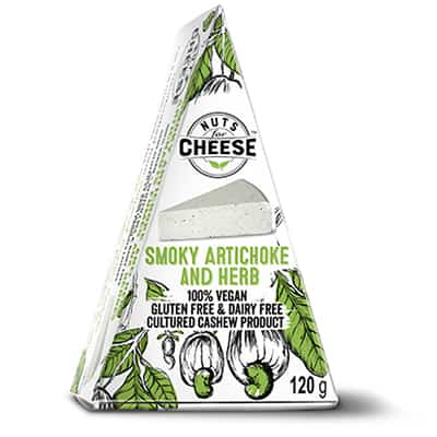 Nuts For Cheese Smoky Artichoke and Herb Flavour Box Packaging