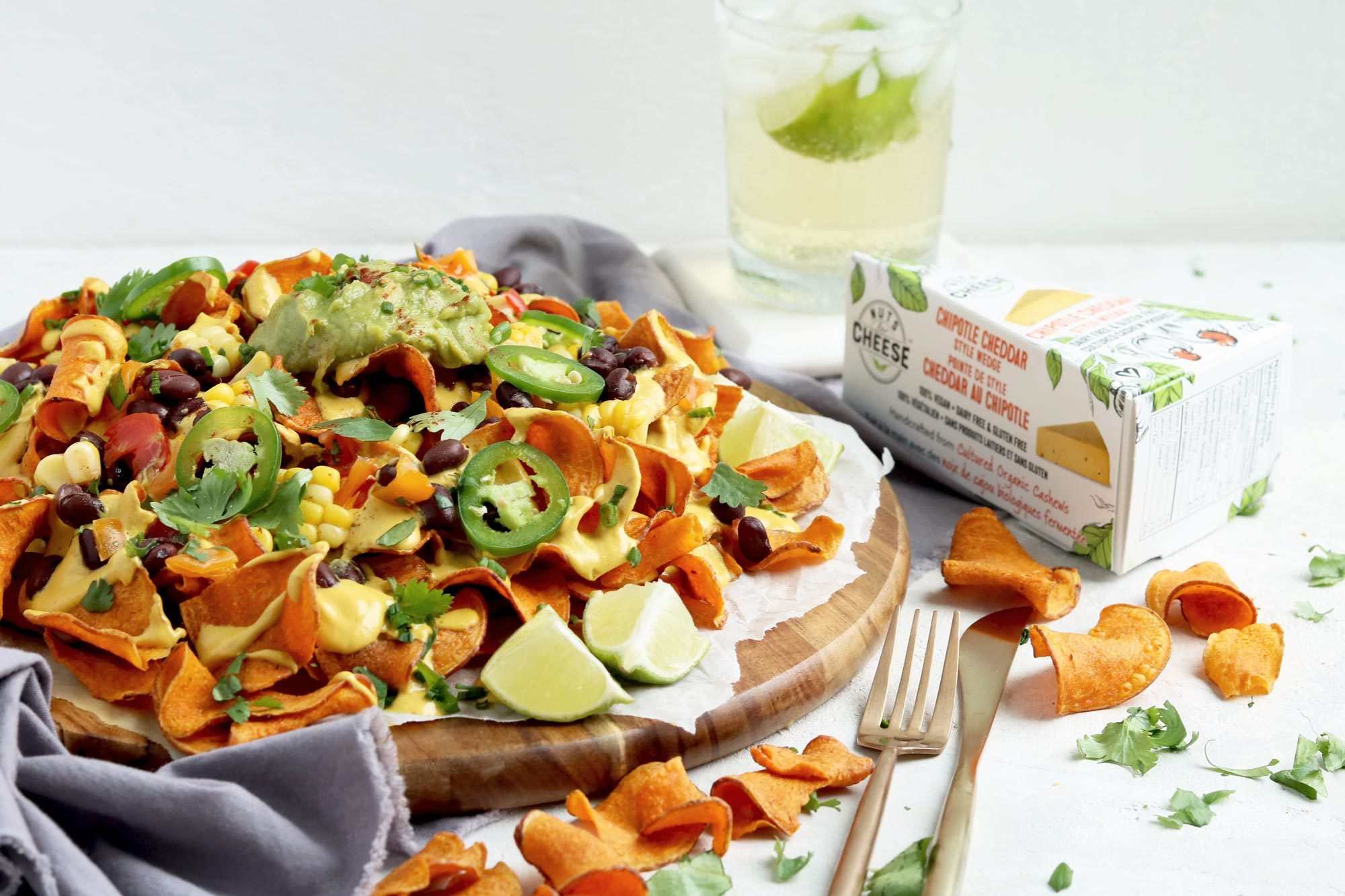 Nuts For Cheese Chipotle Cheddar Sweet Potato Nachos