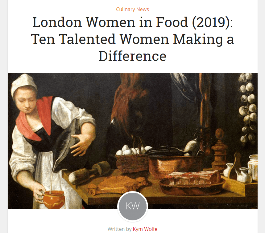 London Women in Food 2019: Ten Talented Women Making a Difference Eat Drink 2019