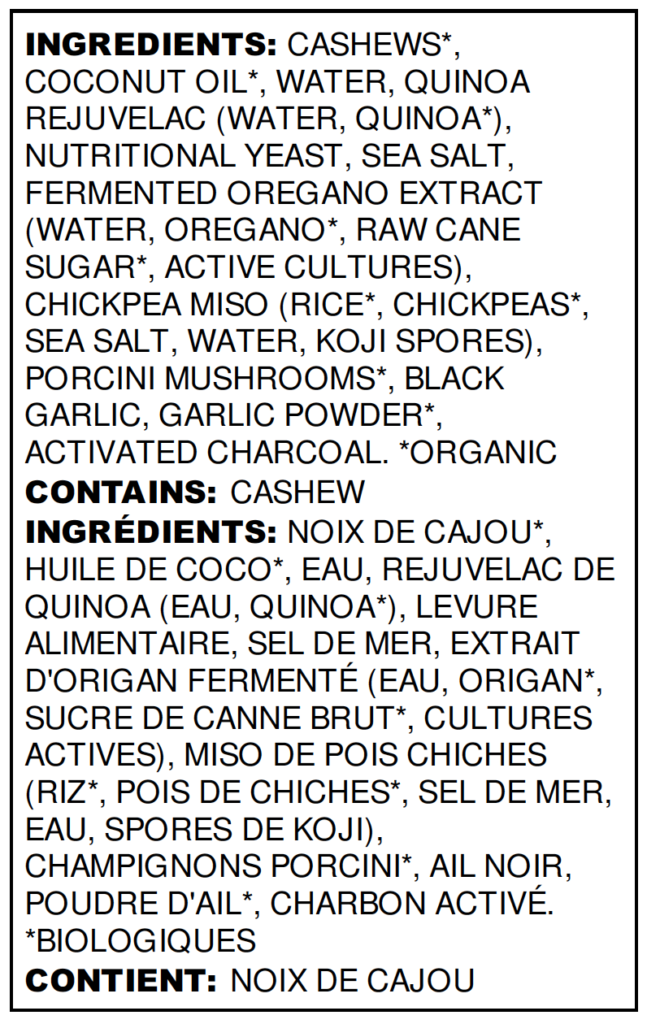 Black Garlic Ingredient List