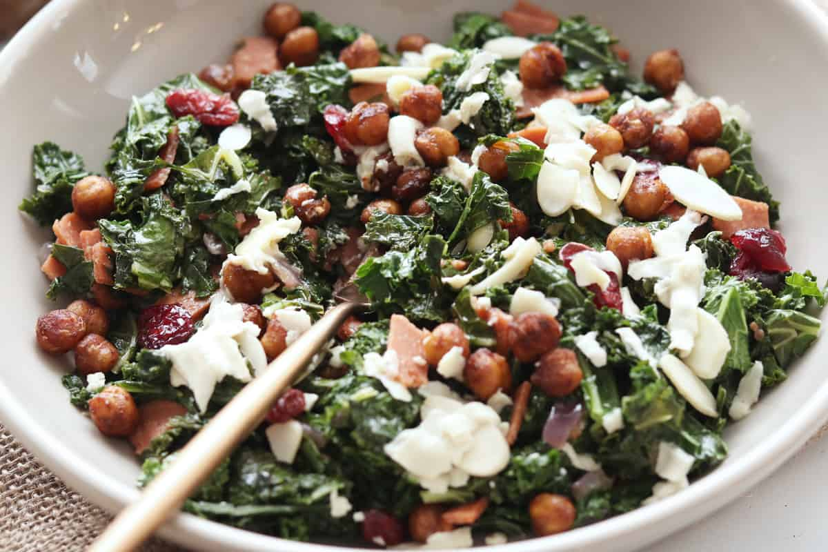 Nuts For Cheese Warm Brie Kale Salad
